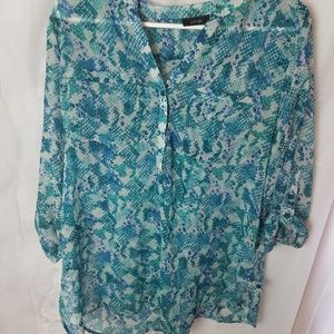 APT 9 Sheer blouse size Large